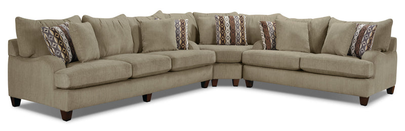 Putty Chenille Sectional - Beige|Sofa sectionnel Putty en chenille - brun