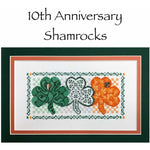 Claddagh Cross Stitch 10th Anniversary Shamrocks Pattern