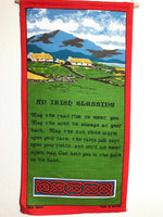 Ulster Linen Company Irish Blessing Pennant Wall Hanging