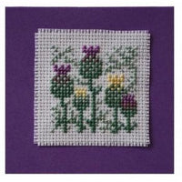 Textile Heritage Scottish Thistle Keepsake Cross Stitch Kit