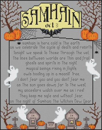 Artists Alley Samhain: Wheel of the Year Cross Stitch Pattern