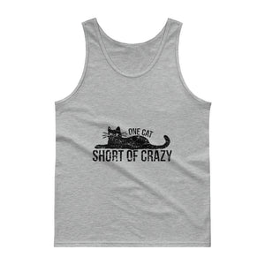 One Cat Short of Crazy - Black Tank top