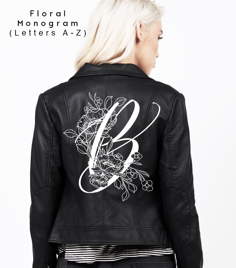 BOTANICAL MONOGRAM - Bash Creative Design - The Original DIY Bridal Jacket Kits