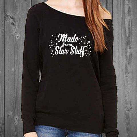 Made From Star Stuff Womens Off shoulder sweatshirt