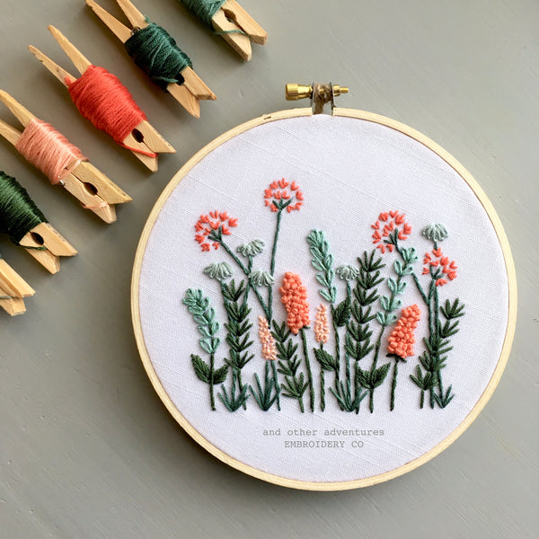 Modern Floral Embroidery KIT by And Other Adventures Embroidery Co