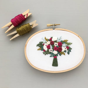 romantic floral embroidery