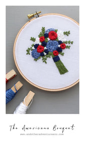 The Americana Bouquet Embroidery Pattern by And Other Adventures Embroidery Co