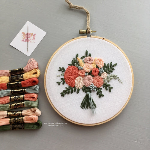 DIY Hand Embroidery Summer Flower Bouquet KIT - The Lorelei Bouquet by And Other Adventures Embroidery Co
