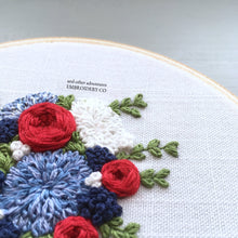 The Bloom Collection - The Americana Bouquet Hand Embroidery Pattern
