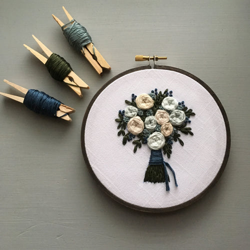 The Bloom Collection - The Harlow Bouquet Embroidery Pattern