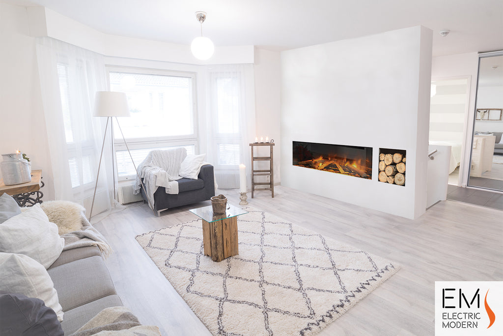 modern linear electric fireplace with easy installation for any space