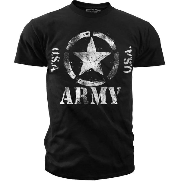 Black Ink Classic Army Star Men's T-Shirt