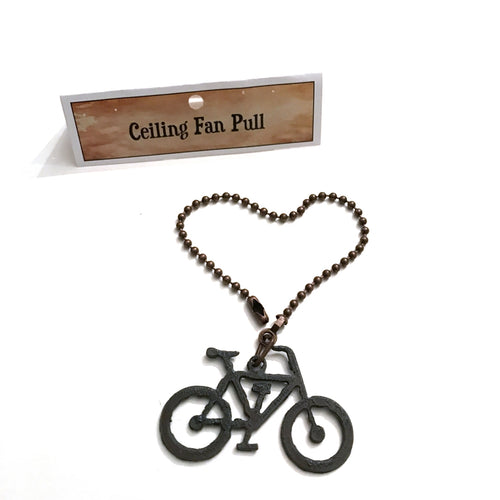 Rustic Bike Ceiling Fan Pull