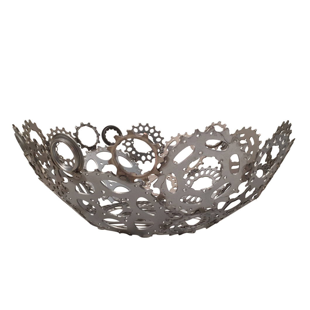 Upcycled Bicycle Gears Bowl, Large