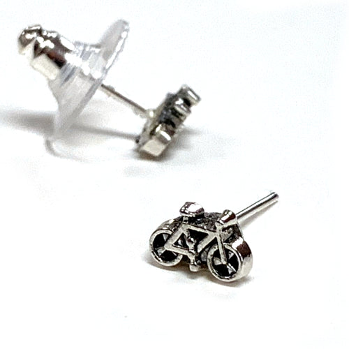 Mini Bike Stud Earrings