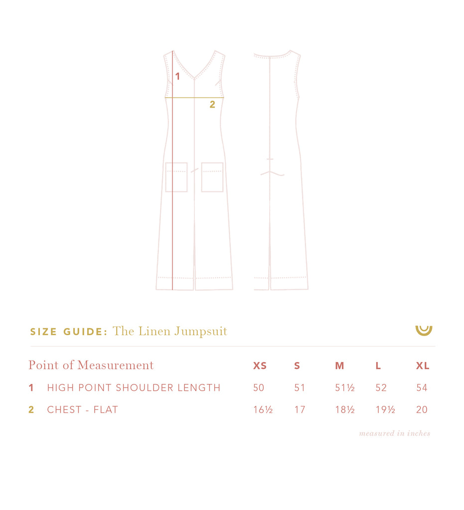 The Linen Jumpsuit in Gray Dawn Stripe