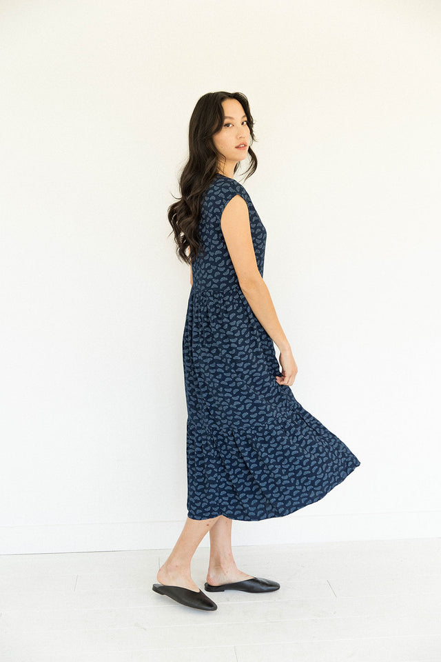 The Tiered Dress in Wildflower Seed