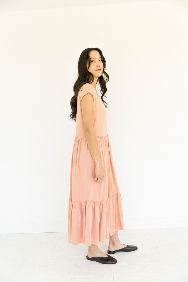 The Tiered Dress in Clay