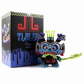"Blue TLALOC God of Rain 8"" Dunny  Medium Figure by Jesse Hernandez Urban Aztec by Kidrobot - iamRetro.com"