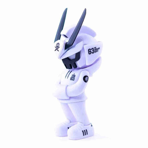 CORE EDITION TEQ 63 Ghost Mode White - 6 Inch Medium Figure by Martian Toys x Quiccs - iamRetro.com