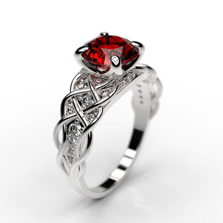 2.0 Carat Sapphire/Ruby Engagement Ring - Giliarto