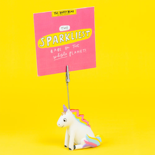Unicorn Clip Photo Holder - The Happy News collection