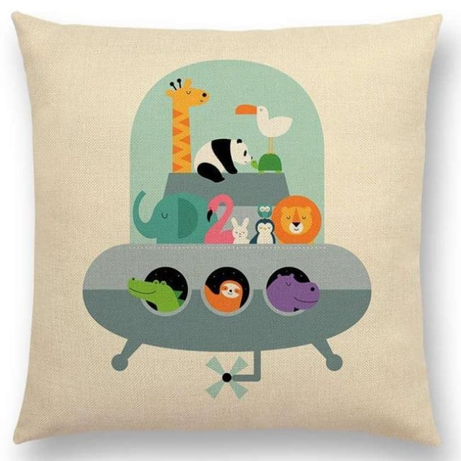 Scandi Retro Cushion Covers - A001314 / 45X45Cm No Filling - Home