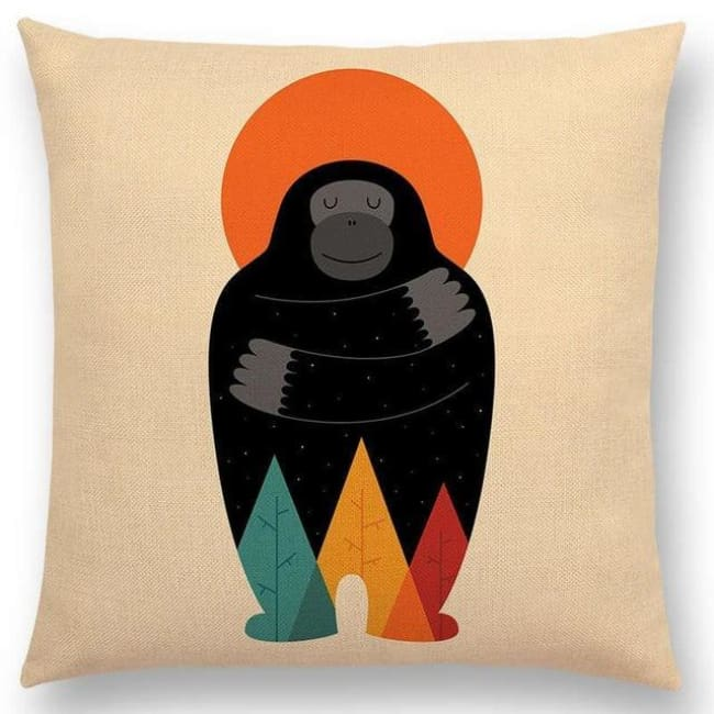 Scandi Retro Cushion Covers - A001319 / 45X45Cm No Filling - Home