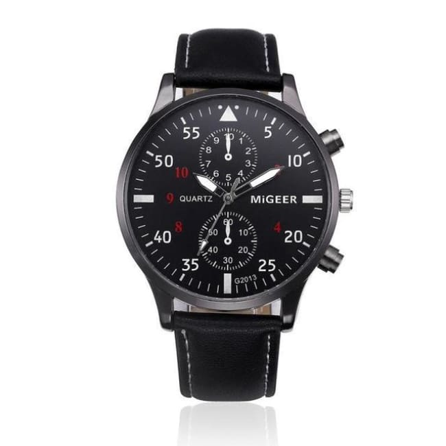 The Hackney Watch Retro Quartz-Wrist Watch - Black - Watches