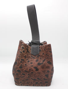 soho bag | pink and black leopard-print calfskin