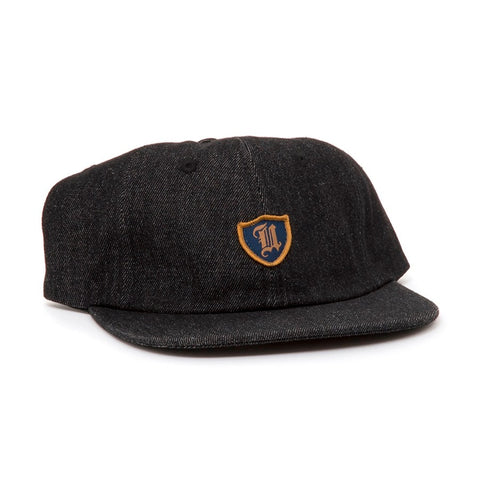 Uprise Polo Crest 6 Panel Hat Black Denim