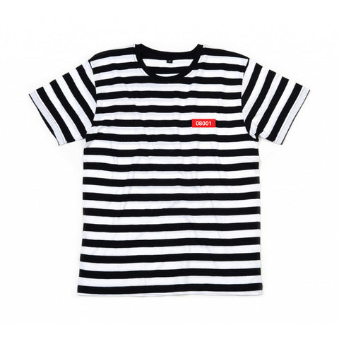 The North Raval - 08001 Stripy Tshirt black and white