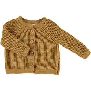 My Little Cozmo Knit Cardigan Mustard