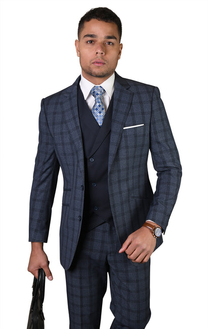 EDWIN INDIGO MODERN FIT 3 PC SUIT