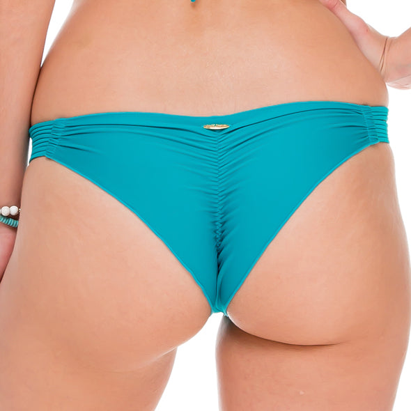 COSITA BUENA - Strappy Brazilian Ruched Back Bottom-WHC