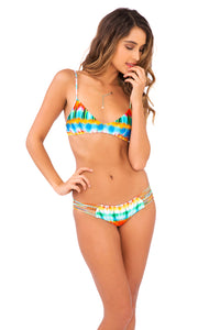 OCEAN WHISPERS - Criss Cross Back Bra Top & Hot Buns Bottom • Multicolor