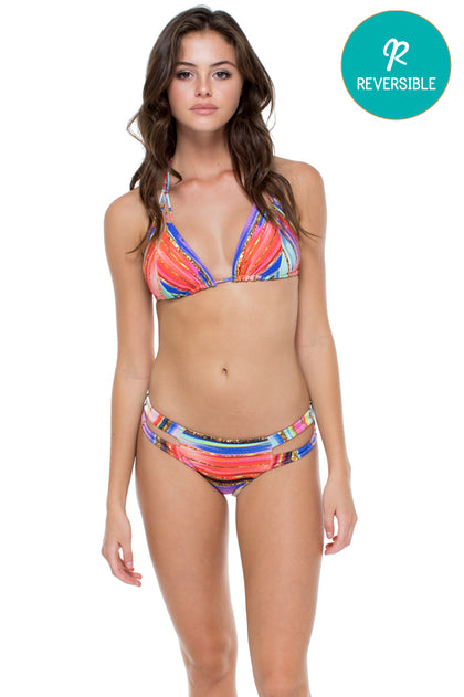 BELLAMAR - Zig Zag Knotted Cut Out Triangle Top & Cut Out Moderate Bottom • Multicolor