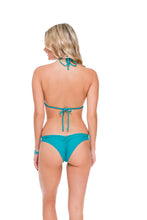 COSITA BUENA - Crochet Illusion Halter Top & Strappy Brazilian Ruched Back Bottom • Exuma