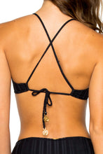 TURI TURAI - Bralette Top & High Waist Bottom • Black