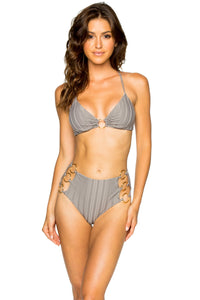TURI TURAI - Bralette Top & High Waist Bottom • Grey
