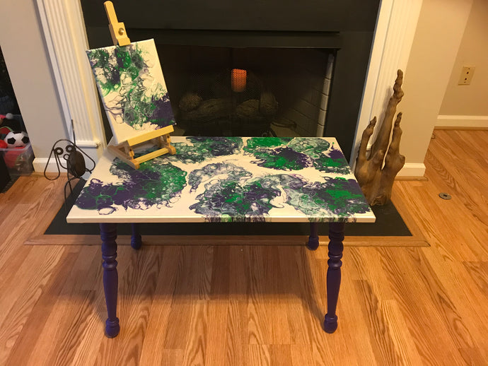 How To: Pour Painting on a Table - Negative Space Method