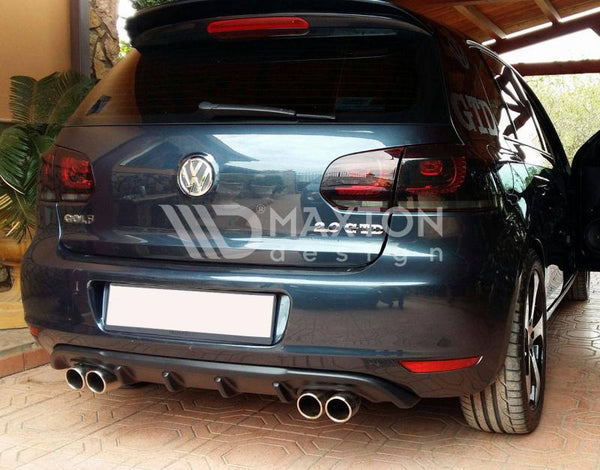 Volkswagen - MK6 Golf - Rear Valance - With 2 Exhaust Holes