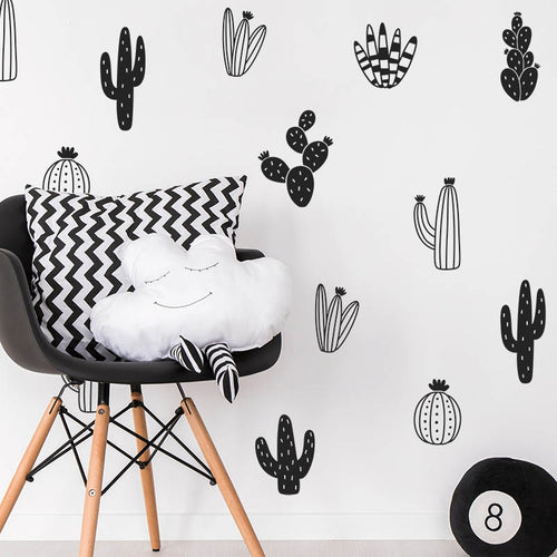 Cactus Wall Stickers, Wall Sticker, Nordic Home Accessories, Elm & Blue, Style Life Home