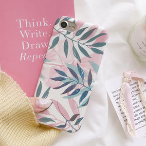 Pink Leaf iPhone Cover, Phone Case, Nordic Home Accessories, Elm & Blue, Style Life Home
