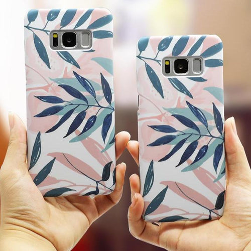 Galaxy Plant Leaves Phone Case, Phone Case, Nordic Home Accessories, Elm & Blue, Style Life Home