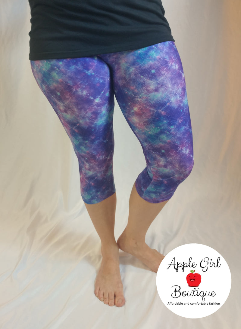 Mermaid Galaxy Capris - Women's
