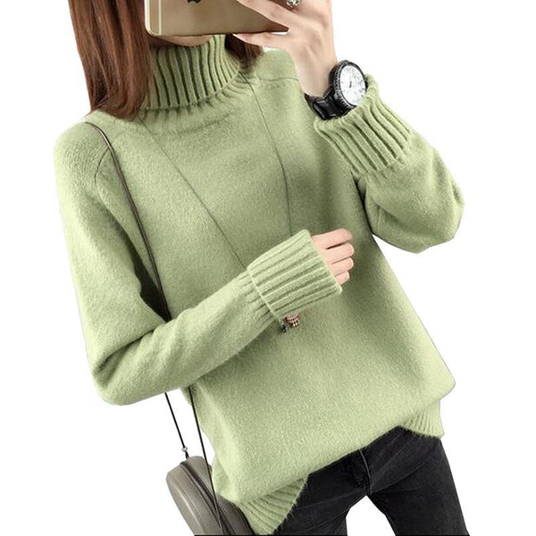 Women Warm Pullovers Thick Sweater Jumper Tops-elatestore-elatestore