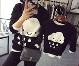 Hot Parent Child Outfits Cloud Family Look Sweaters Family Matching Outfits Mother & Kids Knit Shirts For Mother Son Girls Boy-elatestore-elatestore