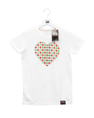 Kids Shirt Heart white