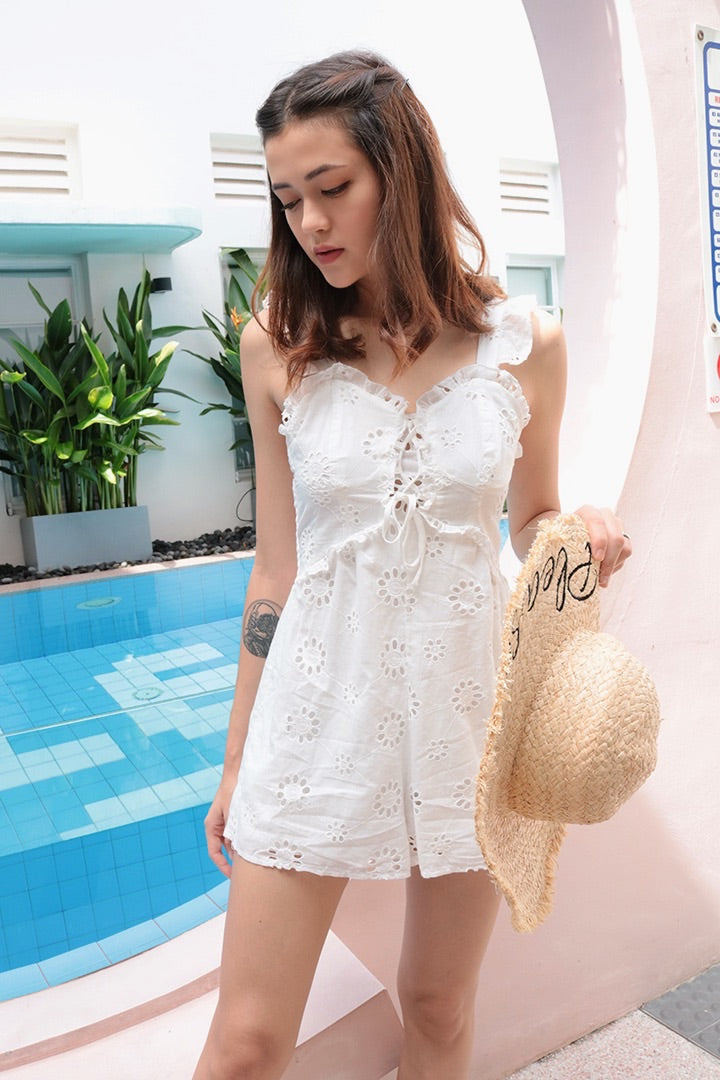 AFTER YOU EYELET PLAYSUIT